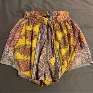 Soft high-waisted boho shorts